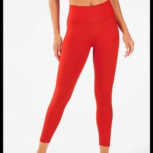 NWT Fabletics High-Waisted Powerhold 7/8 Red Tight